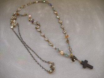 アソートビーズのアンティーク風ネックレスの画像