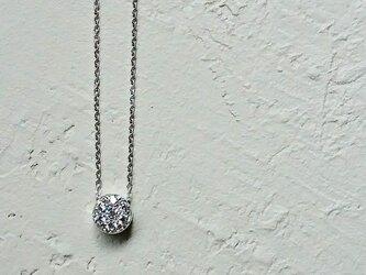 【受注制作】Silver925×CZ×ロジウムコーティングのネックレスの画像