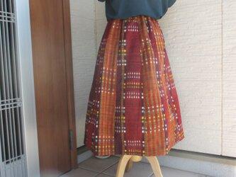 着物リメイク フレアースカートの画像