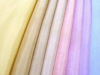 (Y-1)正絹 羽二重 胴裏 手染め8枚 8色 はぎれセット ブラウン系・エンジ・紫 つまみ細工用布・吊るし飾りにの画像
