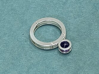 Sphere Sandwich Ring (Oder Production)  Silver Amethystの画像