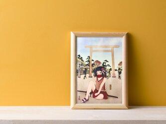 令和慶祝カラー展出展決定!ポストカード「人と情と、伊勢の旅」の画像