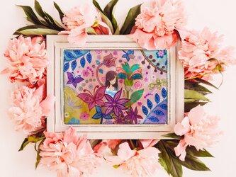 令和慶祝カラー展出展決定!ポストカード「花と空」の画像