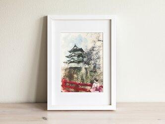 令和慶祝カラー展出展決定!高級紙ポストカード「弘前城散策」の画像