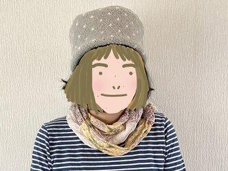 SALE  コロンとした帽子62グレー水玉の画像