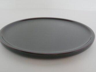 素黒目の器 溜尺〇丸盆の画像