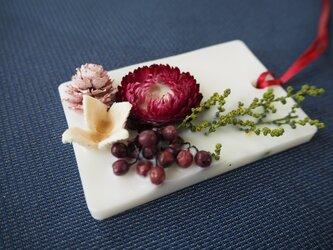 アロマワックスサシェ(ガーデンローズの香り・ヘリクサムローズレッド)の画像
