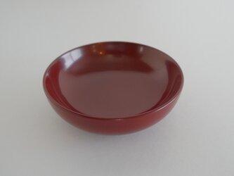 素黒目の器 朱35小皿の画像