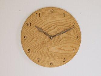 木製 掛け時計 丸 栗材9の画像