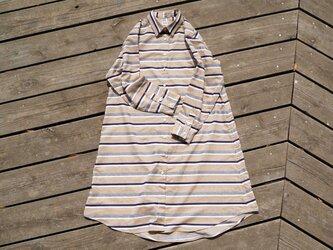 SALE 『実りの空』 コットン 播州織 シャツワンピース  shirt onepiece bansyuoriの画像