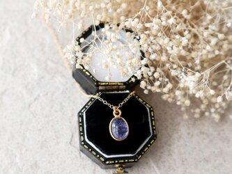 【14kgf】宝石質タンザナイトの一粒ネックレスの画像