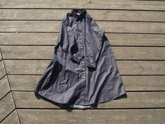 『星空』播州織 シャツワンピース  shirt onepiece bansyuoriの画像