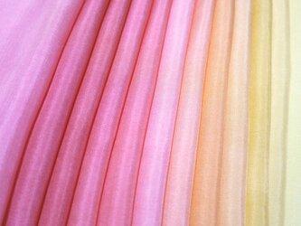 (S)正絹 胴裏 手染め12枚 12色 はぎれセット 赤・橙・黄 つまみ細工用布・吊るし飾りにの画像