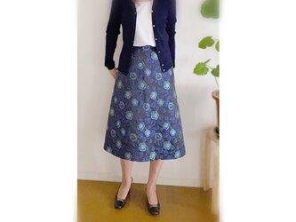 イタリー製ジャカードAラインスカートの画像