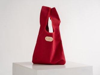「帆布×革の組み合わせ」100%☆帆布の丈夫なエコバッグの画像