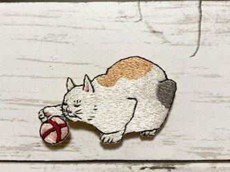 手刺繍ブローチ*三代 歌川広重「百猫画譜」よりの画像