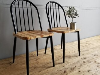 Iron Wood Dining  Chair / 2setの画像