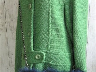 ¶ new antique fur ¶ ディープブルーフォックスショルダーバッグ/ハンドウォーマー2WAYの画像