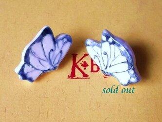 陶ピンブローチ-蝶の画像