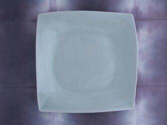 りんご灰釉 四方皿〈4寸〉の画像
