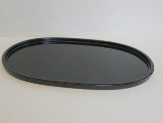 黒 オーバルトレイの画像