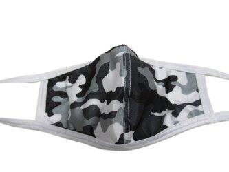 立体シーム・カーブ型プリント水着マスク・迷彩(グレー)の画像