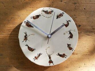 時計(ふわふわウサギ)の画像