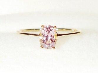 0.55ctクンツァイトとK18ピンクゴールドの指輪(リングサイズ:9号、天然石、ピンクゴールドの重さ:0.86g)の画像