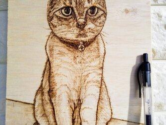 オーダ作品見本 ペットの似顔絵 ミミちゃんの画像