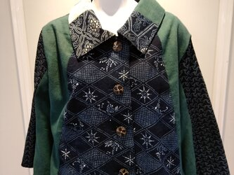 藍型染(古布) ジャケットの画像