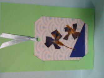 身近な植物のしおり&しおりを使ったグリーティングカードの画像