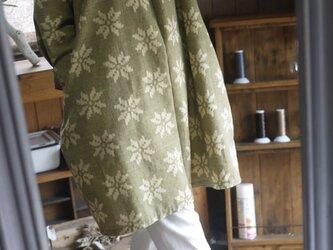 久留米絣反物シンプルワンピースの画像