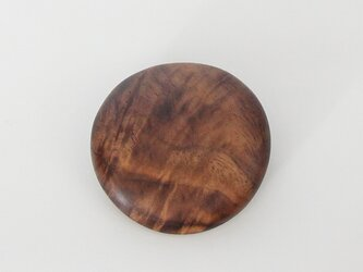 ブローチ maru  Black Walnutの画像