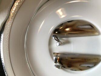ナチュラル モンタナアゲート イヤリングピアス・ノンピアス用ペア+金具 キット  非加熱 ナチュラル 50.05カラットの画像