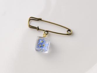勿忘草のブローチ(無料ギフトラッピング, 誕生日プレゼント, メッセージカード)の画像