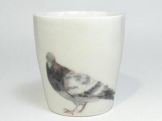 イギリス作家の手作りエッグコップ 「ハト」の画像