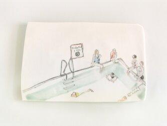 イギリス作家の手描きタイル 「プール」の画像