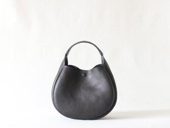 ワンハンドルミニトート【holly】ブラック 総手縫いの画像