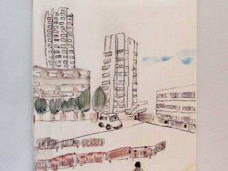 イギリス作家の手描きタイル「ロンドンライフ」の画像