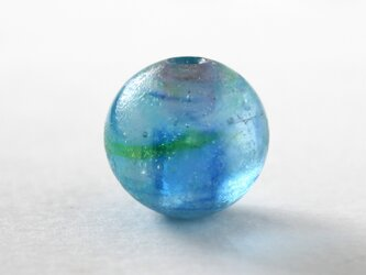 ガラスアクセサリー【蒼彩】縞の小石 S152の画像