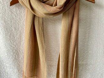 草木染め手織りストール s003の画像