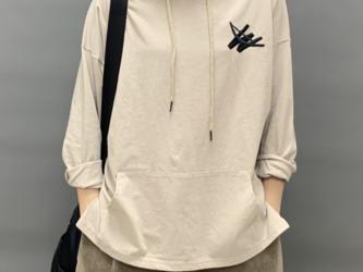 new 秋 長袖コットンTシャツ レディース トップス  シャツ  ゆったり カジュアル通学 通勤の画像