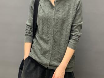 秋 ニットカーディガン 薄手長袖セーターニットジャケット レディース トップス コットン シャツ ゆっだり 通学 通勤の画像