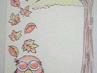 ふくろうの秋の画像