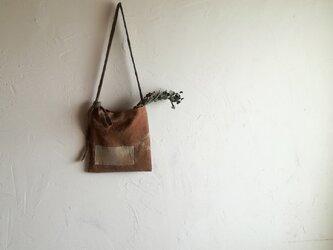 草木染め ざっくり肌ざわりのポシェット 自由色1の画像