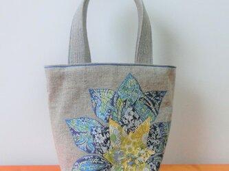 花かごバッグ ブルーの画像