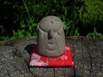 陶の置物 豆地蔵 2の画像