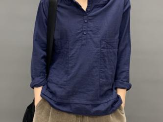 秋レディースTシャツフード付き長袖ピュアコットンTシャツシャツ コットン コートトップス レディース シャツ 通学 通勤の画像