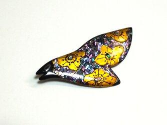 トリブローチ「raden bird」の画像
