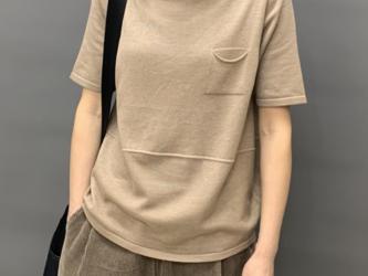 秋ニット 半袖アイスシルクTシャツ ニットセーター サマーセーター コットンミッドスリーブリネンセーター トップス レディースの画像